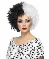 Carnavalskleding cruella pruik dames helmond