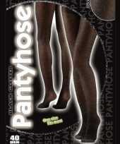 Carnavalskleding dames panty zwarte kleur helmond