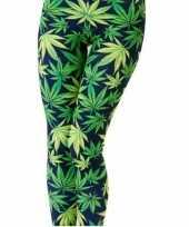 Carnavalskleding dames party legging marihuana helmond