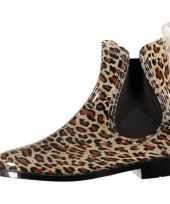 Carnavalskleding dames regenlaarzen luipaard motief helmond
