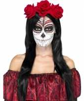 Carnavalskleding day of the dead haarband rood helmond