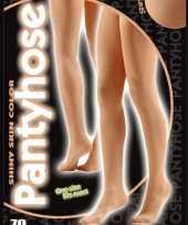 Carnavalskleding denier panty lichaamskleur helmond