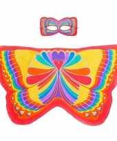 Carnavalskleding dieren verkleedset regenboogvlinder helmond 10090506