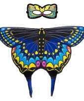 Carnavalskleding dieren verkleedset zwaluwstaartvlinder helmond 10090508
