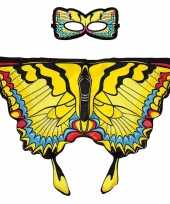 Carnavalskleding dieren verkleedset zwaluwstaartvlinder helmond