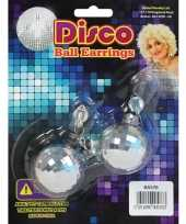 Carnavalskleding discobol oorbellen helmond