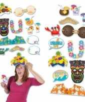 Carnavalskleding dubbelzijde foto booth props tropical helmond