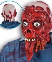 Carnavalskleding enge bloederige masker lange tong helmond