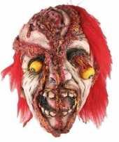 Carnavalskleding enge gele uitpuilende ogen masker helmond