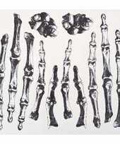 Carnavalskleding enge neptattoos skelet hand helmond