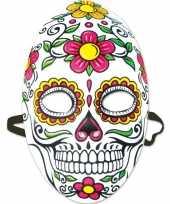 Carnavalskleding feest party mexicaans doodshoofd masker dag doden day of the dead dames helmond