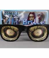 Carnavalskleding feestbril enge zombie ogen helmond