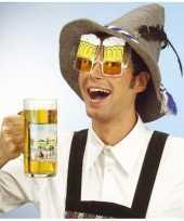 Carnavalskleding feestbrillen bierpullen helmond
