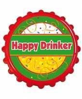 Carnavalskleding flesopener bierdop happy drinker helmond