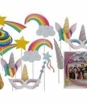 Carnavalskleding foto accessoires eenhoorn stokjes helmond