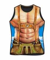 Carnavalskleding funartikel heren t-shirt alpen macho helmond