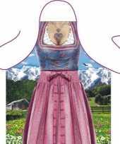 Carnavalskleding funartikel schort bavarian woman helmond