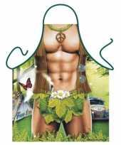 Carnavalskleding funartikel schort hippie man helmond