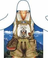 Carnavalskleding funartikel schort tiroler helmond