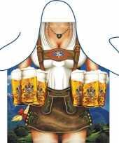 Carnavalskleding funartikel schort tirolerin helmond