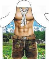 Carnavalskleding funartikel schort trendy alpen man helmond