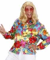 Carnavalskleding gekleurde bloemen shirt helmond