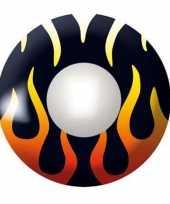 Carnavalskleding gekleurde lenzen vlammen helmond
