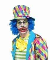 Carnavalskleding gestoorde clown gebit helmond