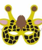 Carnavalskleding giraf foam dierenmasker kinderen helmond