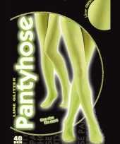 Carnavalskleding glanzende panty limoen groen helmond