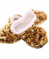 Carnavalskleding glitter sloffen goud helmond