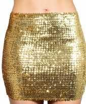 Carnavalskleding gouden glitter pailletten disco rokje dames helmond