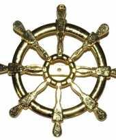 Carnavalskleding gouden matroos zeeman verkleed broche scheepsroer helmond