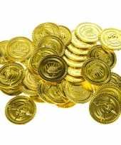 Carnavalskleding gouden piraten speelgoed munten stuks helmond