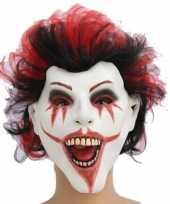 Carnavalskleding griezelig masker the joker helmond