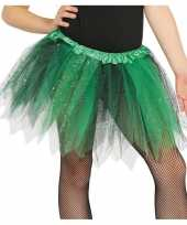Carnavalskleding groen zwarte verkleed petticoat meisjes helmond