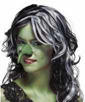 Carnavalskleding groene heksen neus helmond