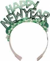 Carnavalskleding groene nieuwjaarsdiadeem volwassenen helmond