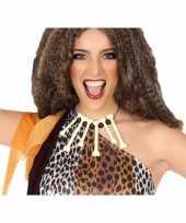 Carnavalskleding grotbewoner halsketting botjes helmond