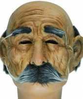 Carnavalskleding half masker bejaarde man helmond