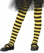 Carnavalskleding halloween geel zwarte heksen panties maillots verkleedaccessoire meisjes helmond