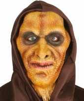 Carnavalskleding halloween hagedisman masker latex helmond