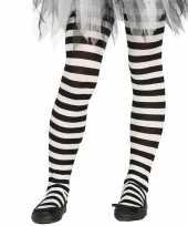 Carnavalskleding halloween wit zwarte heksen panties maillots verkleedaccessoire meisjes helmond