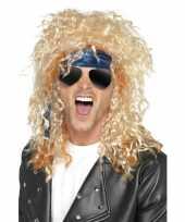 Carnavalskleding heavy metal rocker verkleed set heren helmond