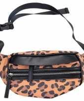 Carnavalskleding hip heuptasje fanny pack schoudertasje zwart bruin luipaardprint panterprint dierenprint helmond