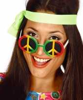 Carnavalskleding hippie flower power peace verkleed bril helmond