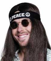 Carnavalskleding hippie hoofdband peace helmond