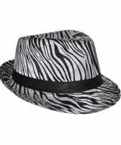 Carnavalskleding hoed zebra print helmond