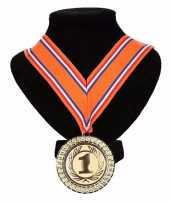 Carnavalskleding holland medaille nr halslint oranje rood wit blauw helmond