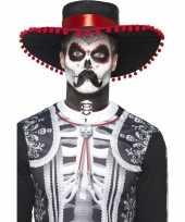 Carnavalskleding horror schmink senor bones helmond